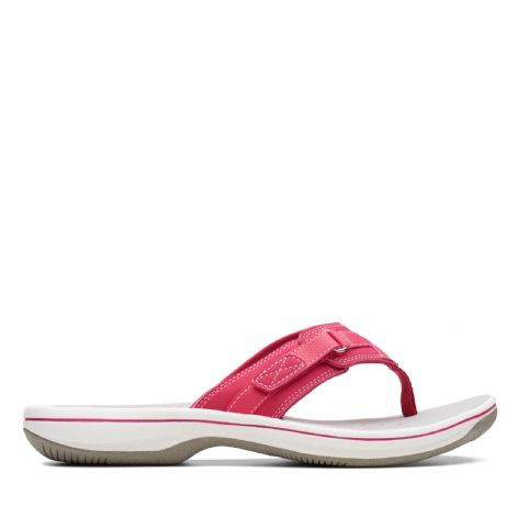 Clarks Womens Brinkley Sea Rose Synthetic Sandals